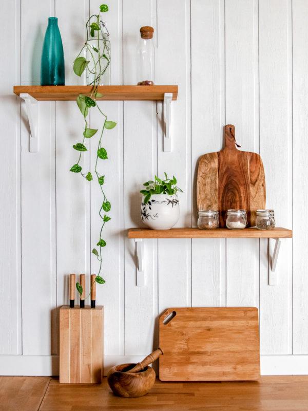Architecture intérieur - Etagère de décoration dans une cuisine